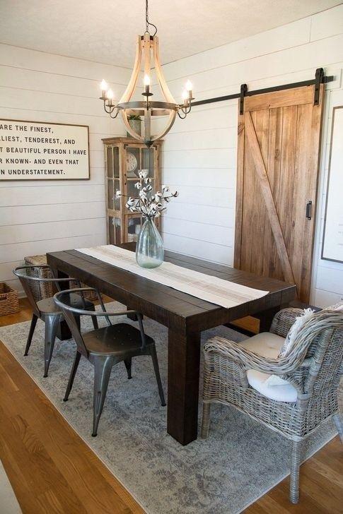 60 Easy Rustic Farmhouse Dining Room Makeover Ideas Farmhouse