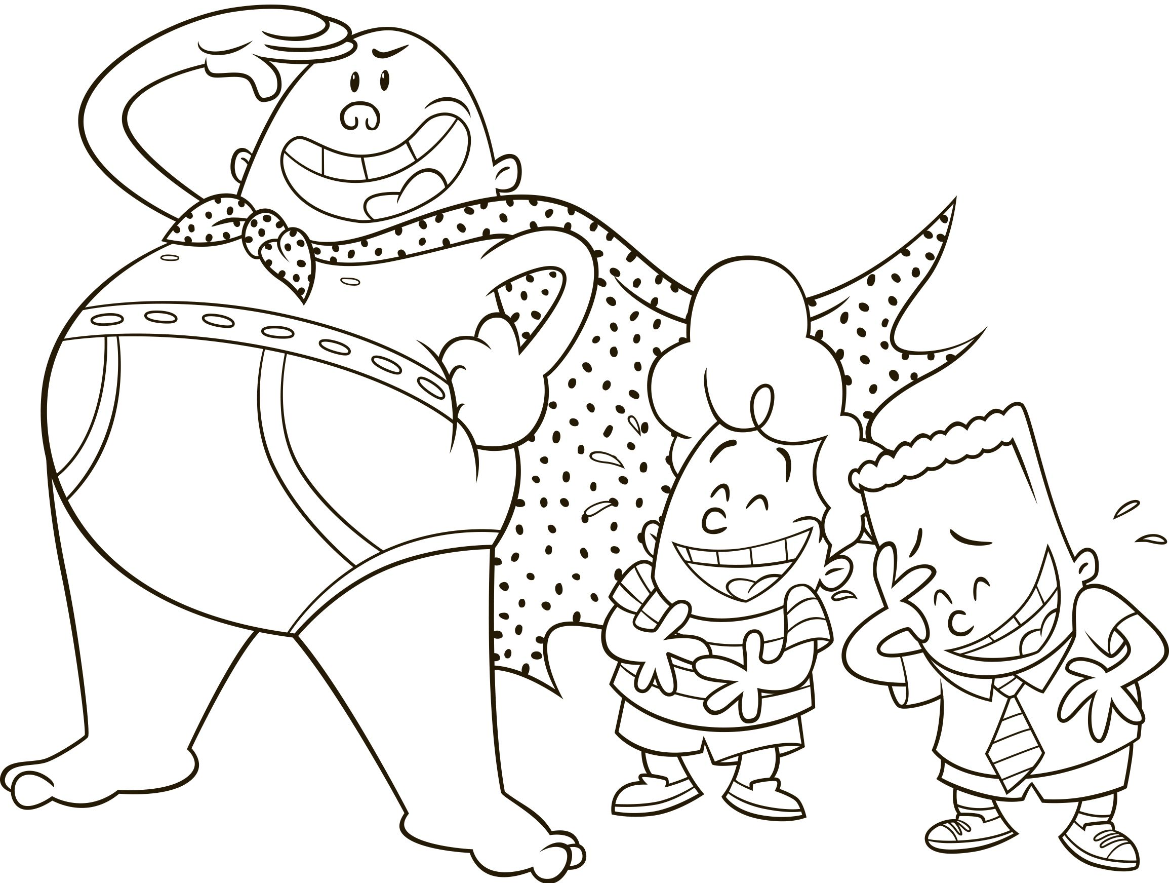 Captain Underpants The First Epic Movie Movie Night Fun The Review Wire Captain Underpants Monster Coloring Pages Coloring Pages
