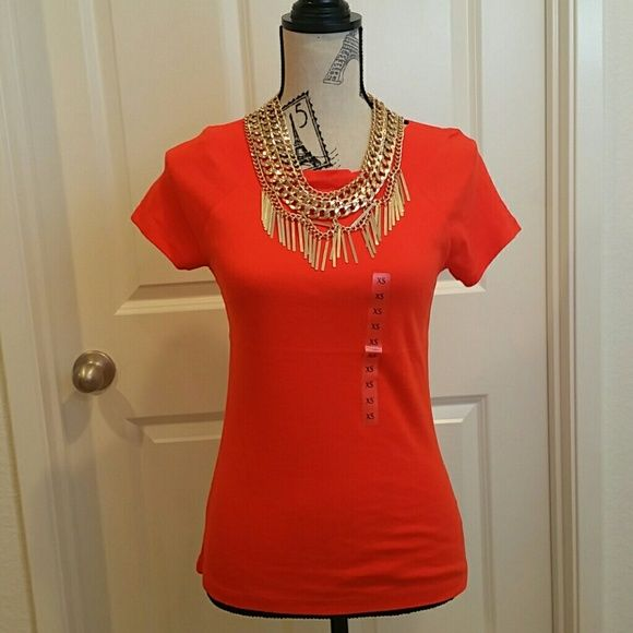 Jones New York Tangerine Blouse Jones New York Tangerine Blouse Jones New York Tops Tees - Short Sleeve