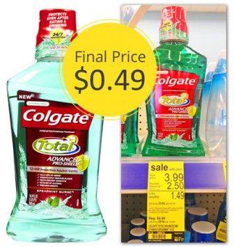 Colgate Mouthwash Only 0 49 At Walgreens Mouthwash Colgate Walgreens