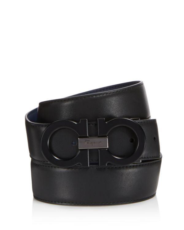 Salvatore Ferragamo Double Gancini Reversible Leather Belt ... 9919b930d254