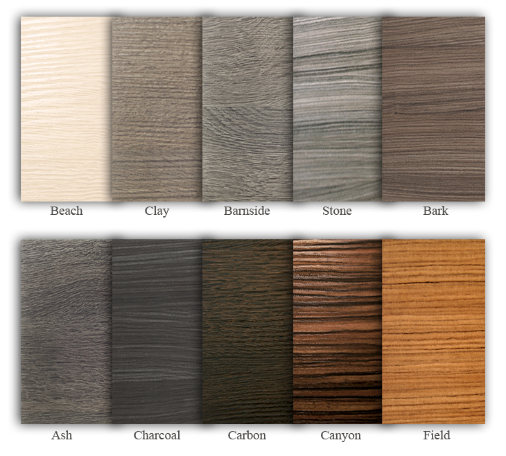 Terra style door finishes thermal structured surface for Kitchen cabinet finishes