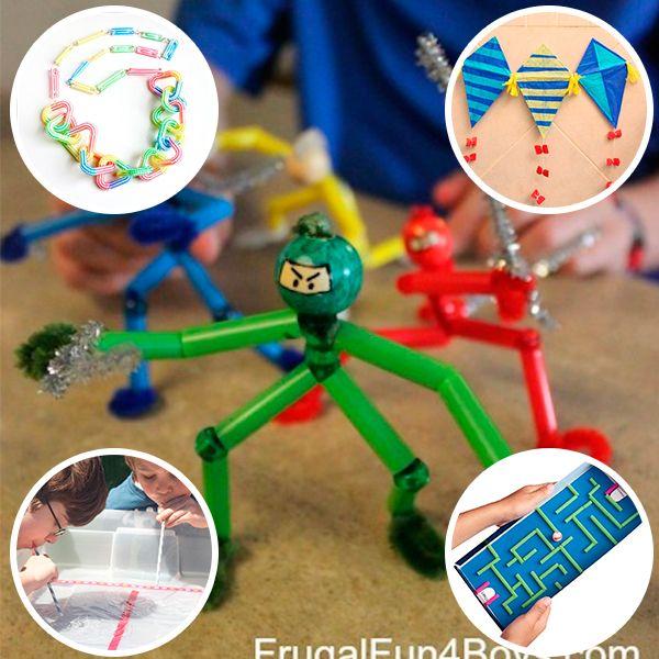 5 manualidades infantiles con pajitas manualidades - Manualidades para ninos faciles y divertidas ...