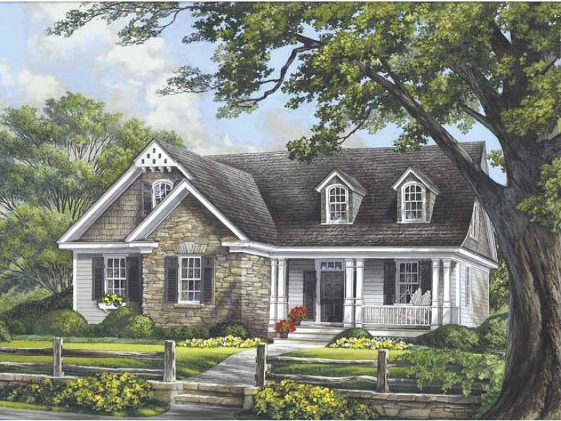 Cottage House Plan with 2020 Square Feet