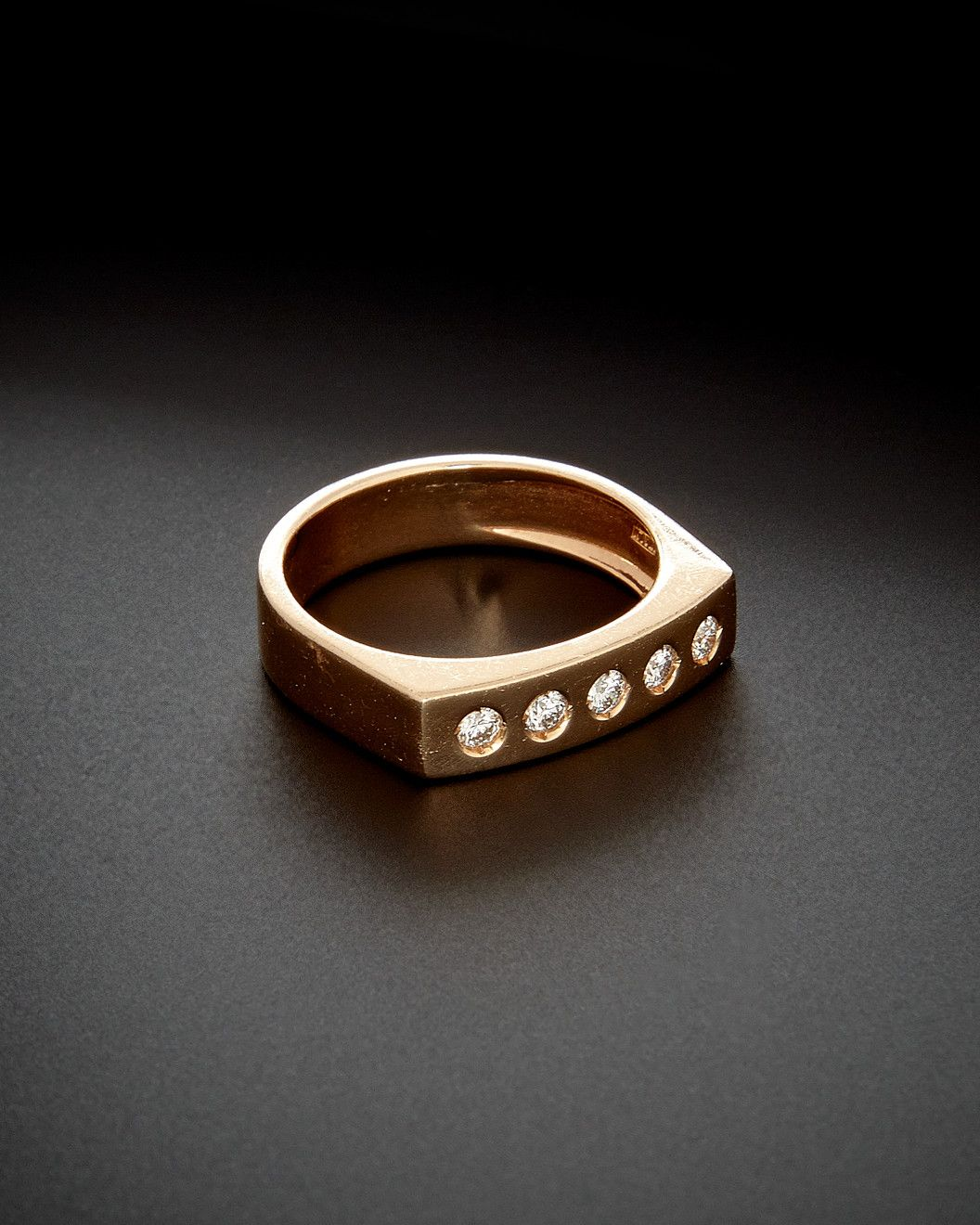 Spotted this 14K Italian Rose Gold 020 ct tw Diamond Bar Ring on