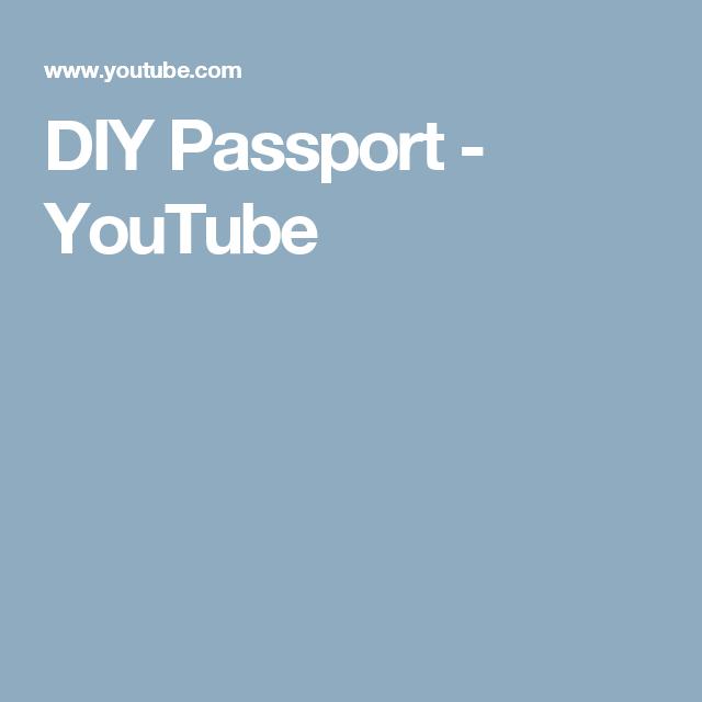 DIY Passport - YouTube
