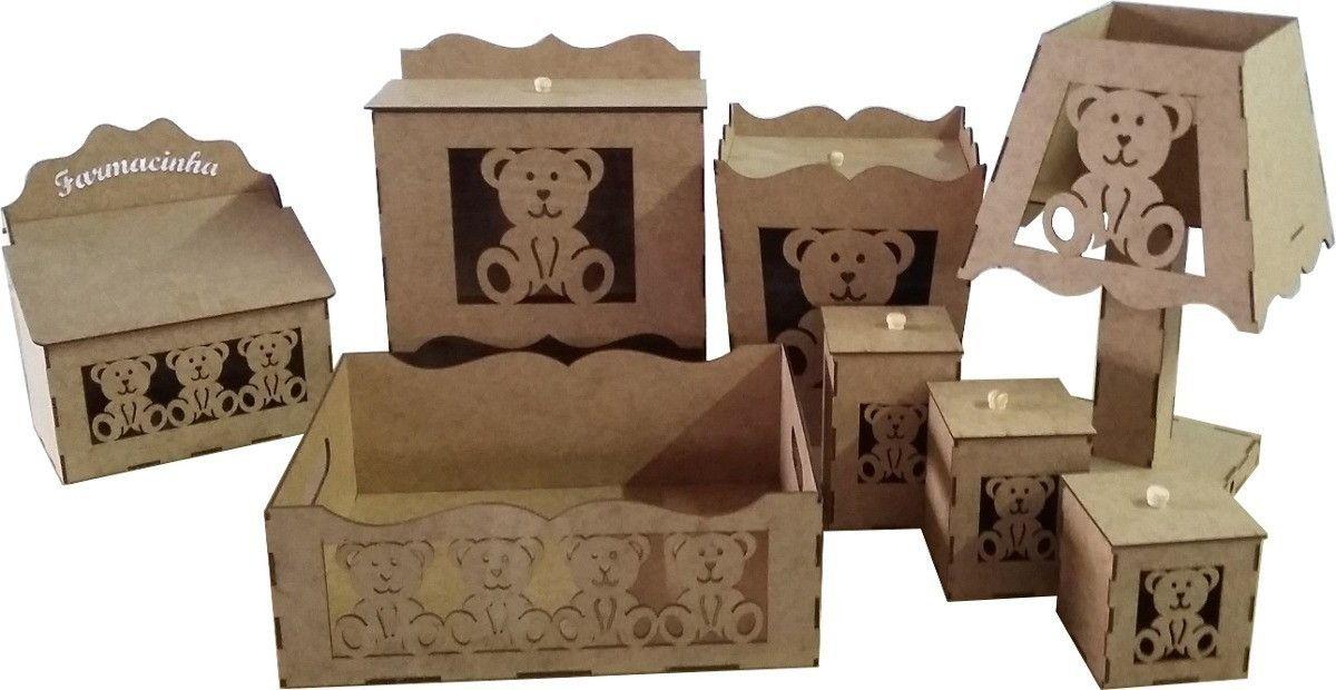 4b2d144f1 Kit Bebê DESMONTADO! com tema de urso