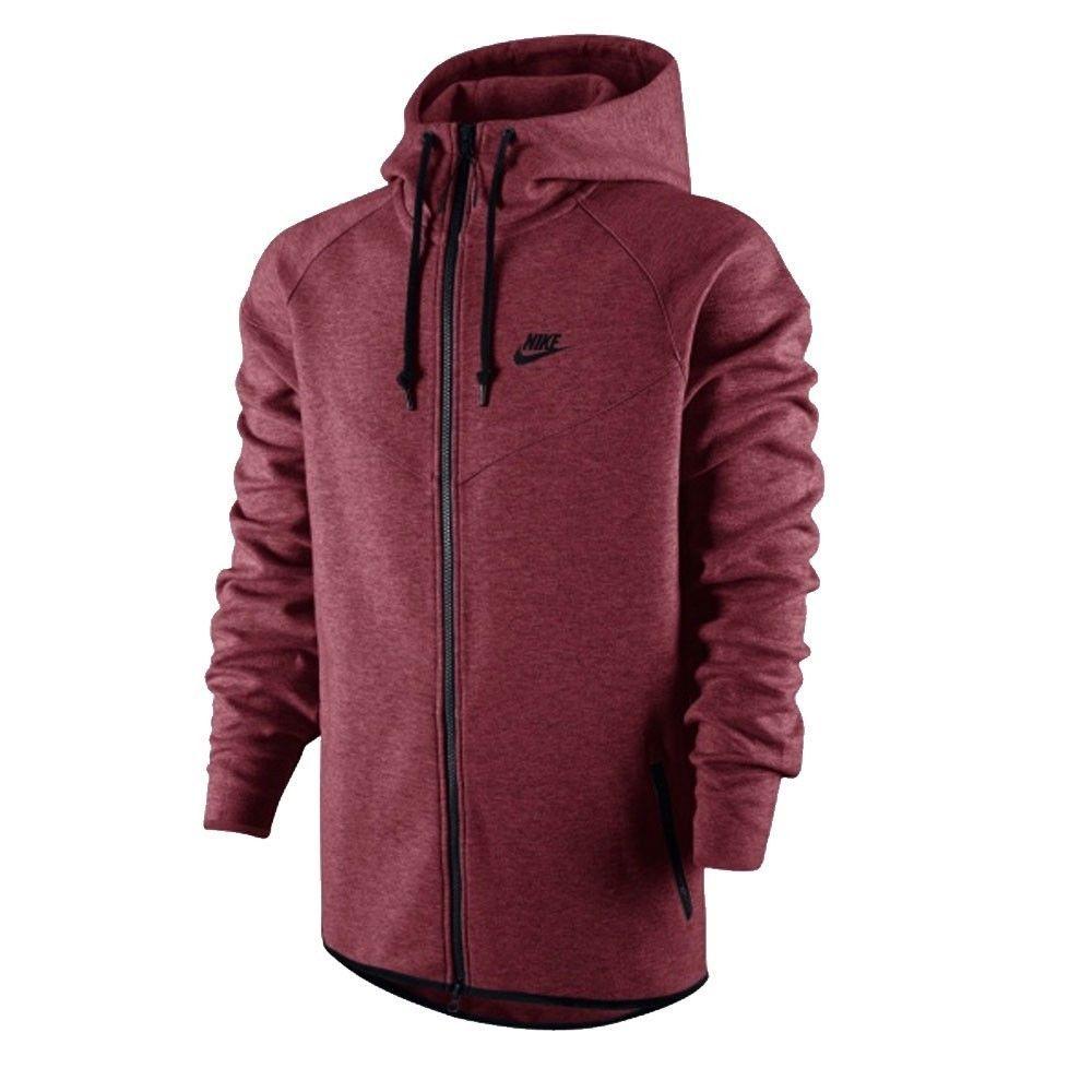 Athletic Apparel 137084: Nike Tech Fleece Windrunner Hoodie Jacket  University Red Black Nwt S $130