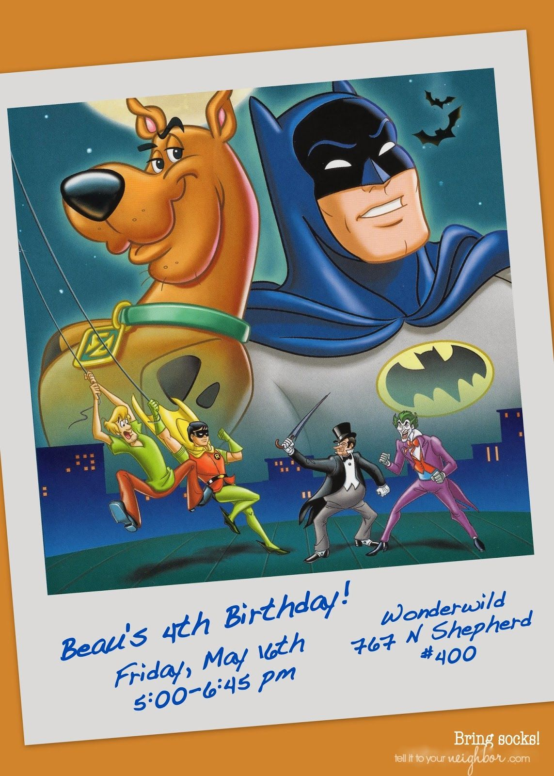 ScoobyDoo Meets Batman Party Birthday Party Pinterest Batman