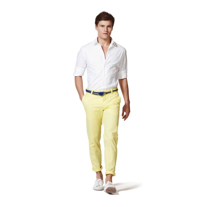 3dcc8e72 pants roll, yellow chinos, rope belt, nautical | Ideal Style ...
