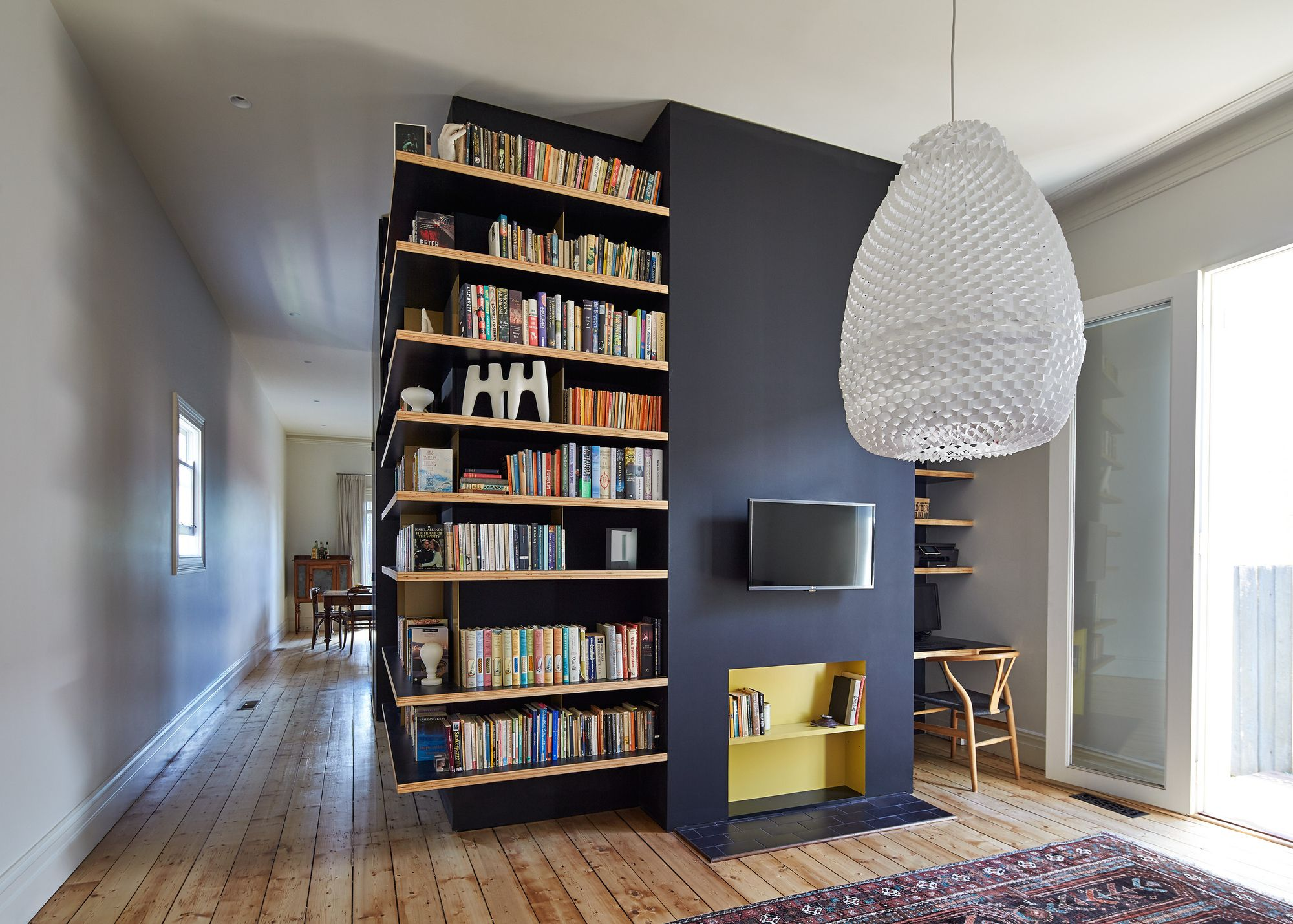 House Renovation Adds Unusual Deck And Shelving Interior House Design Home Decor