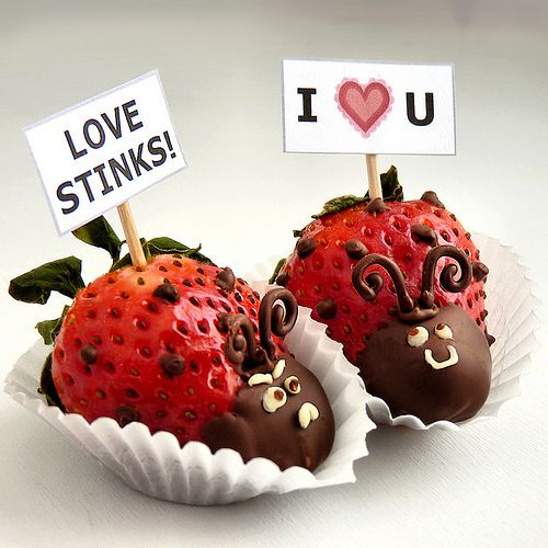 strawberry (lady?) love bugs.