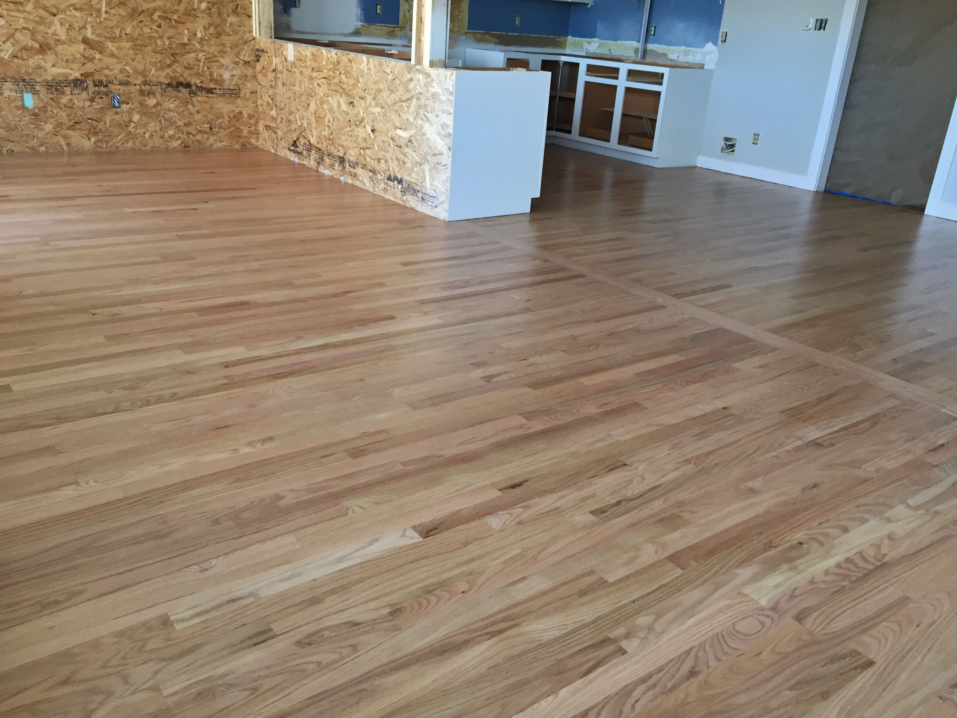 2 1 4 Red Oak With Bona Waterbase Finish Red Oak Hardwood Floors Refinishing Hardwood Floors Red Oak Hardwood