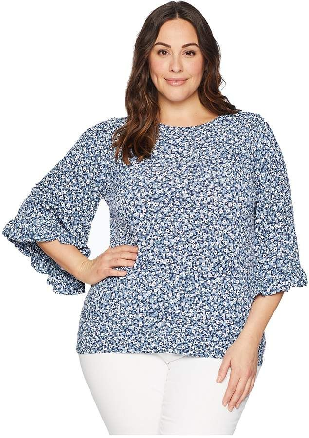 e454e78fee9 MICHAEL Michael Kors Plus Size Collage Floral Sleeve Top Women s Short  Sleeve Knit