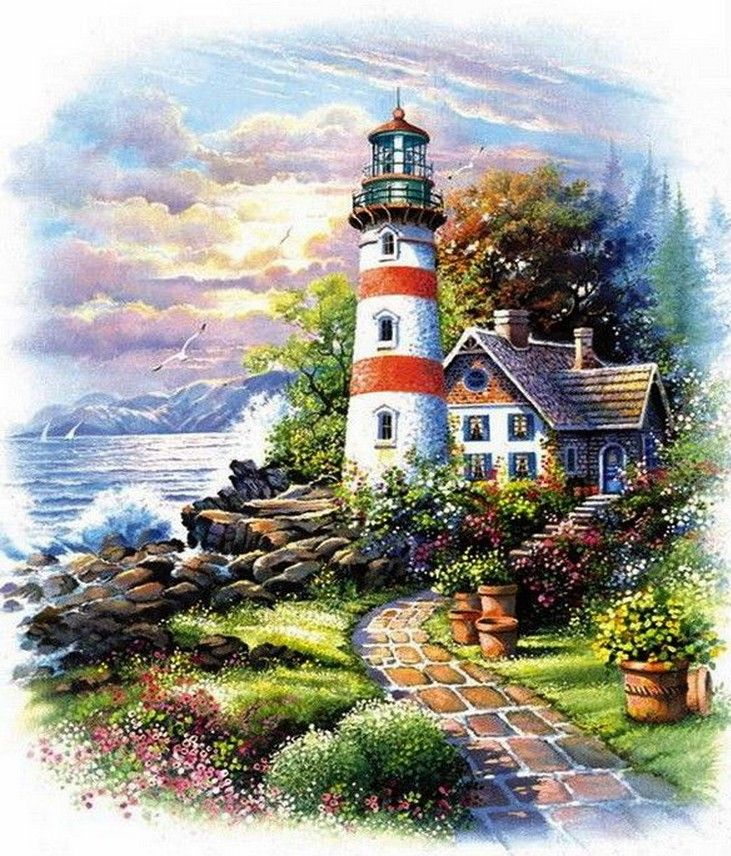 Pigeon Point Lighthouse 500 pc Jigsaw Puzzle by SunsOut