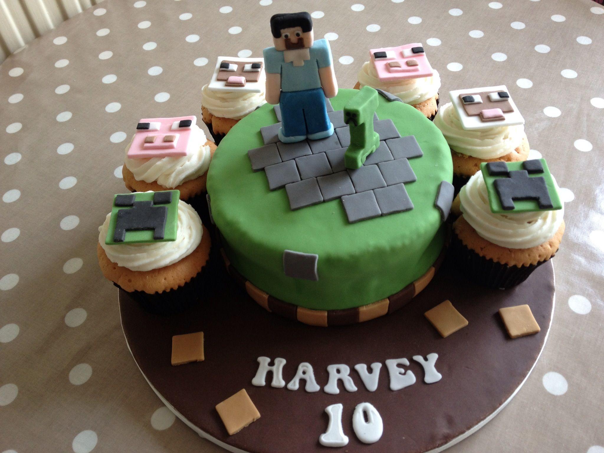 Minecraft Birthday Cake Minecraft Birthday Cake Winkles Cupcakes