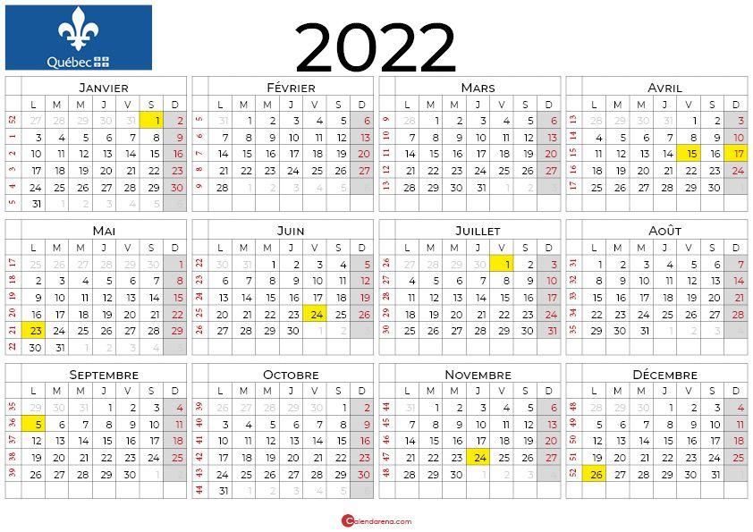 Calendrier 2022 Janvier à Juin calendrier 2022 à imprimer quebec | Calendrier, Calendrier juin
