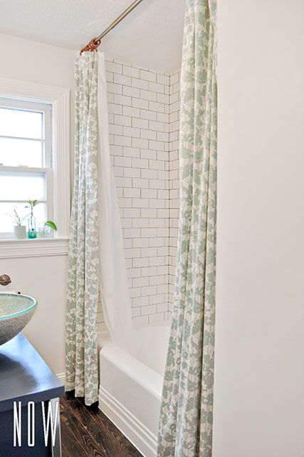 Diy Budget Bathroom Renovation Reveal Double Shower Curtain