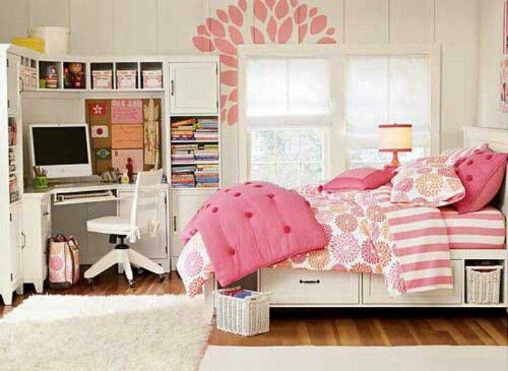 Edredon rosa x branco