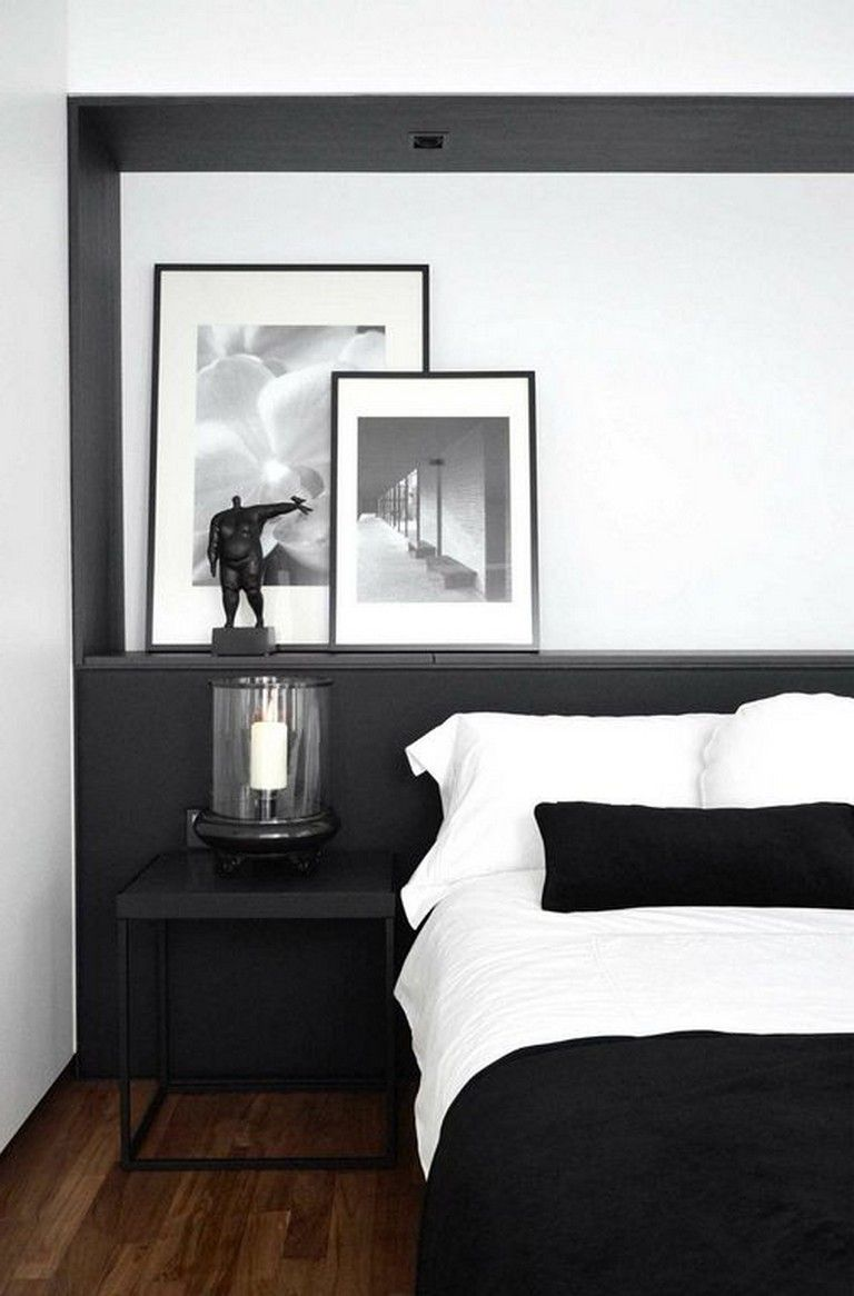 32+ Cozy Modern Minimalist Black and Grey Bedroom Decor ...