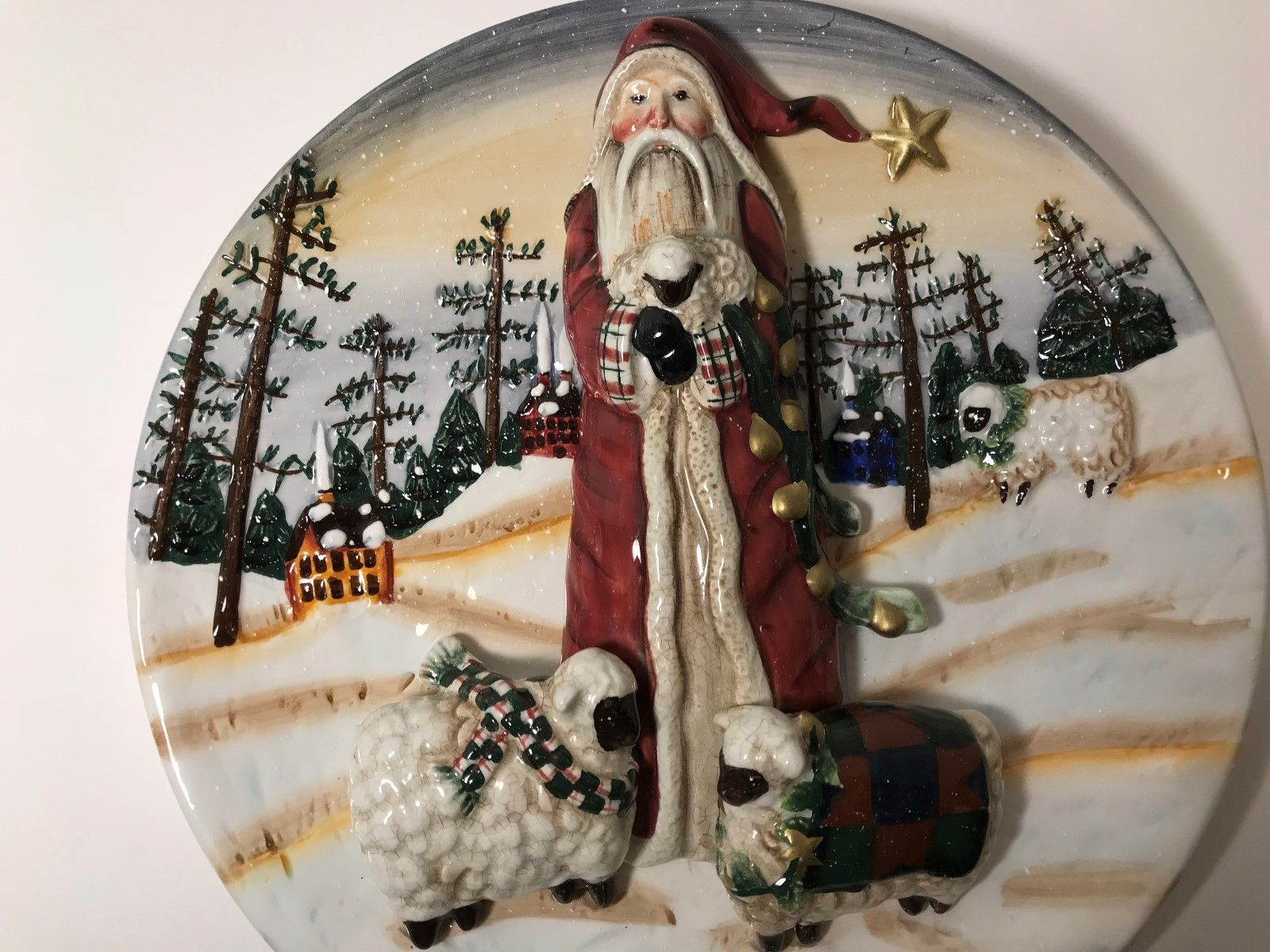 Decorative Christmas Plates For The Wall Decorative Christmas Plate Ganz Santa Cookies Plate Christmas