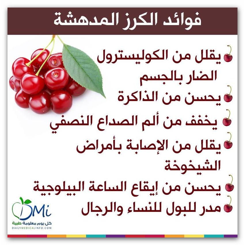 فوائد الكرز Health Facts Food Fruit Benefits Healthy Eating Diets