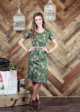 Haven Green Floral Dress