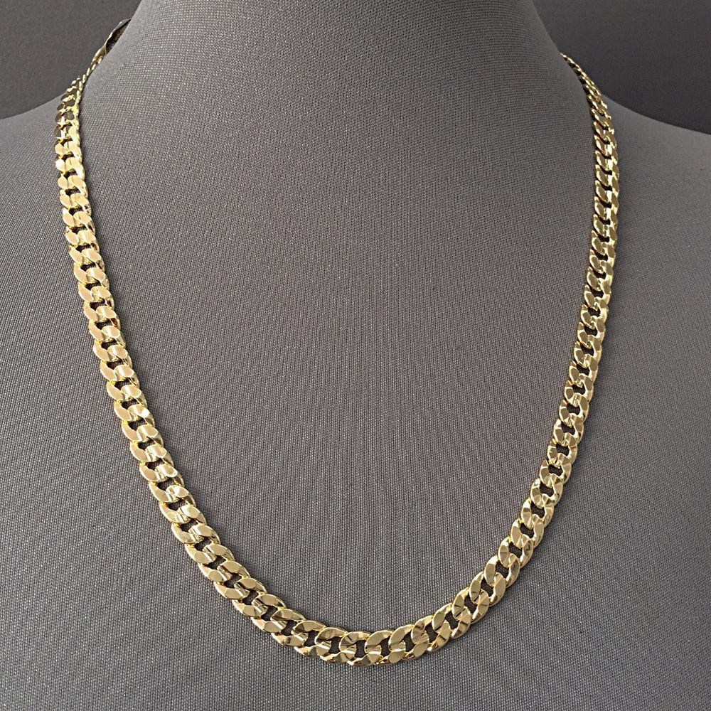 necklace miami cuban chain white shopseen link gold or pin via from yellow finish mens rose