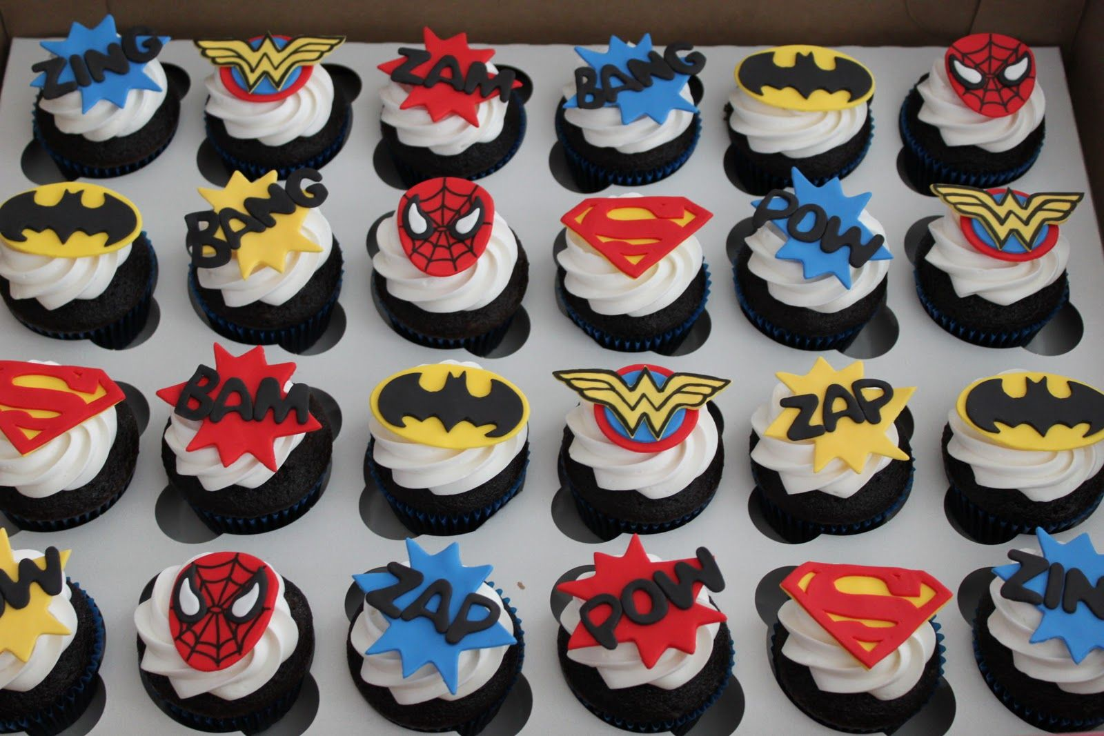 Superhero Party On Pinterest Super Hero Cupcakes
