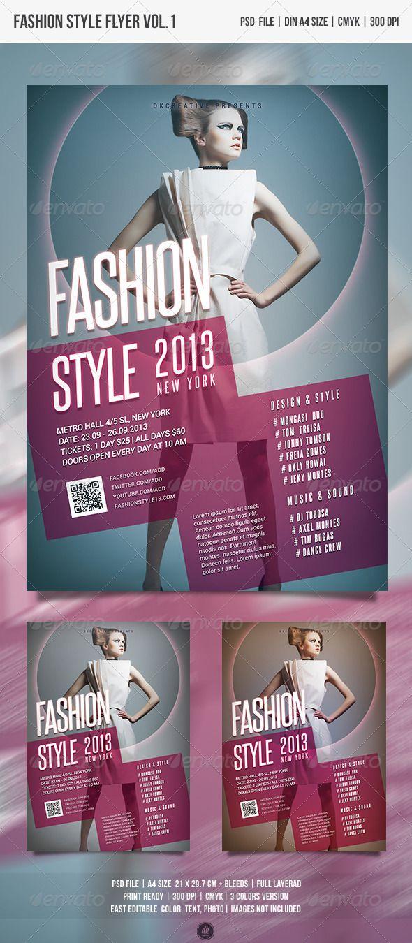 Runway Fashion Show Flyer Template — Photoshop PSD #urban #theater ...