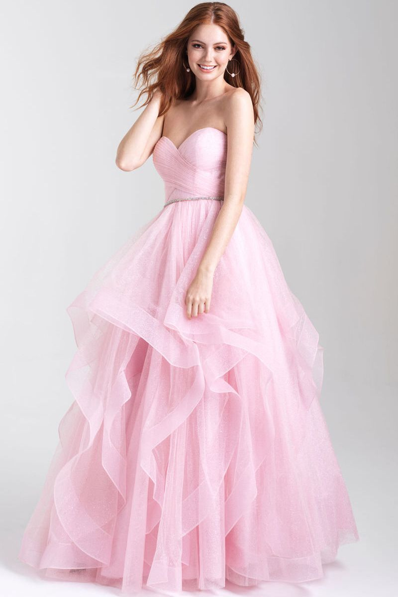 Redhead in ball gown