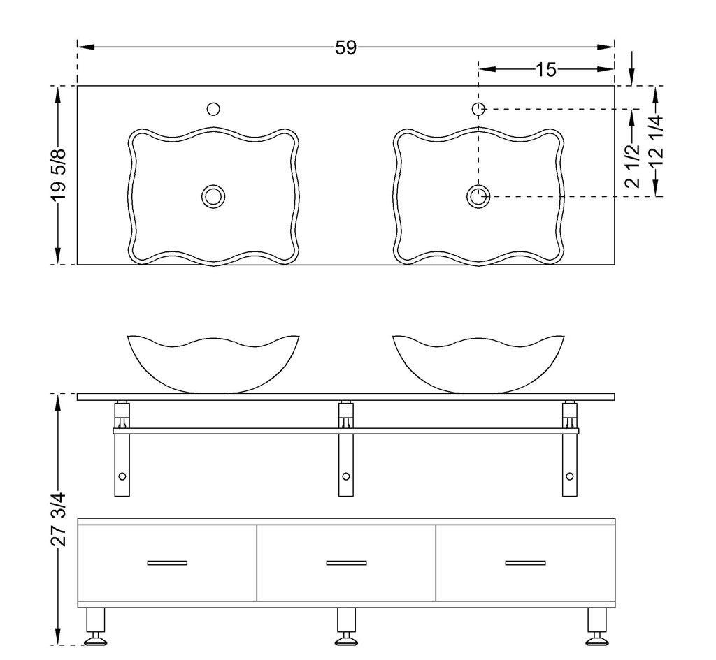 Photo Image bathroom vanity dimensions Google Search