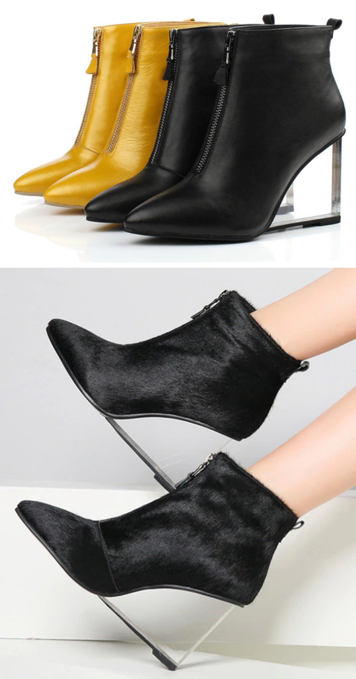 4d2f147639 WEDGE HEELS ANKLE BOOTS FOR WOMEN: Shopping for a hot new pair of transparent  wedge heels ankle boots? These are the trendiest wedge heels ankle boots to  ...