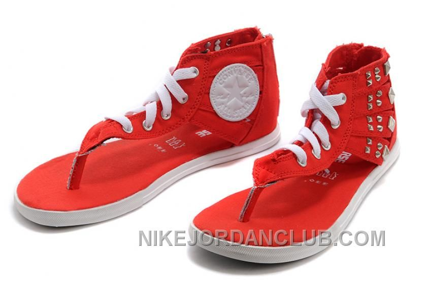 653a0b8508f5 Find the Red All Star CONVERSE Roman Gladiator Studded Flip Flops Zipper  Sandals For Sale at Footseek. Enjoy casual shipping and returns in  worldwide.