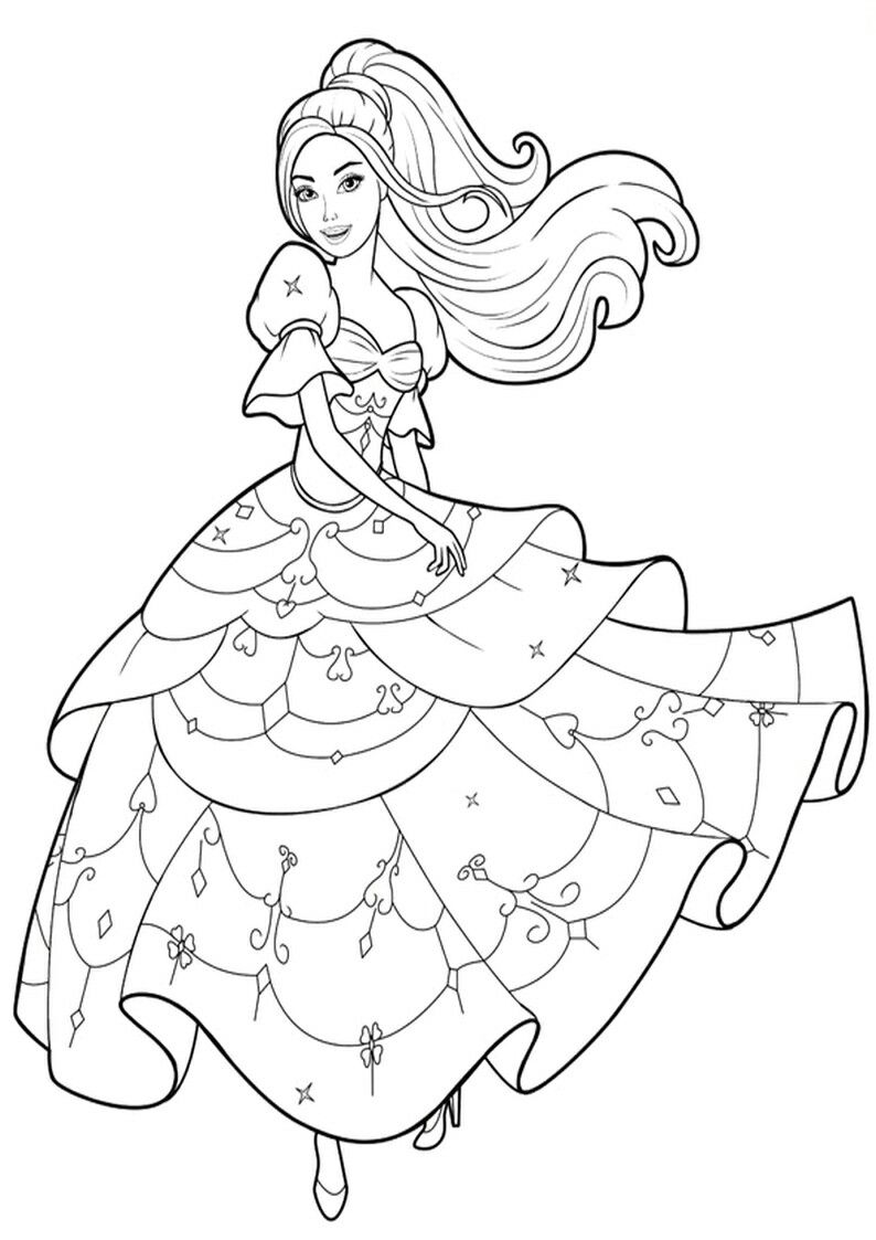 Pin By Renata On Barbie Coloring Barbie Coloring Pages Barbie Coloring Coloring Books