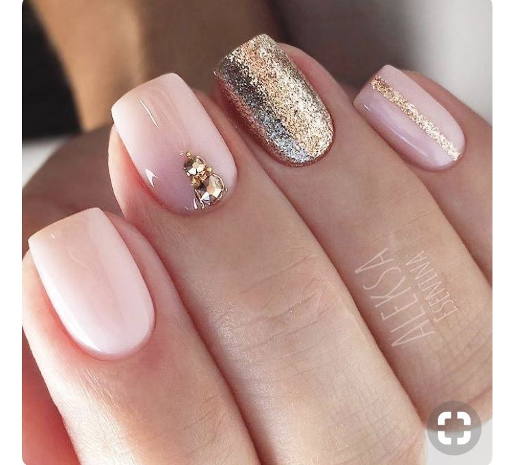 Dont U Just Love This Nail Length Uñas Cortas Manicura De