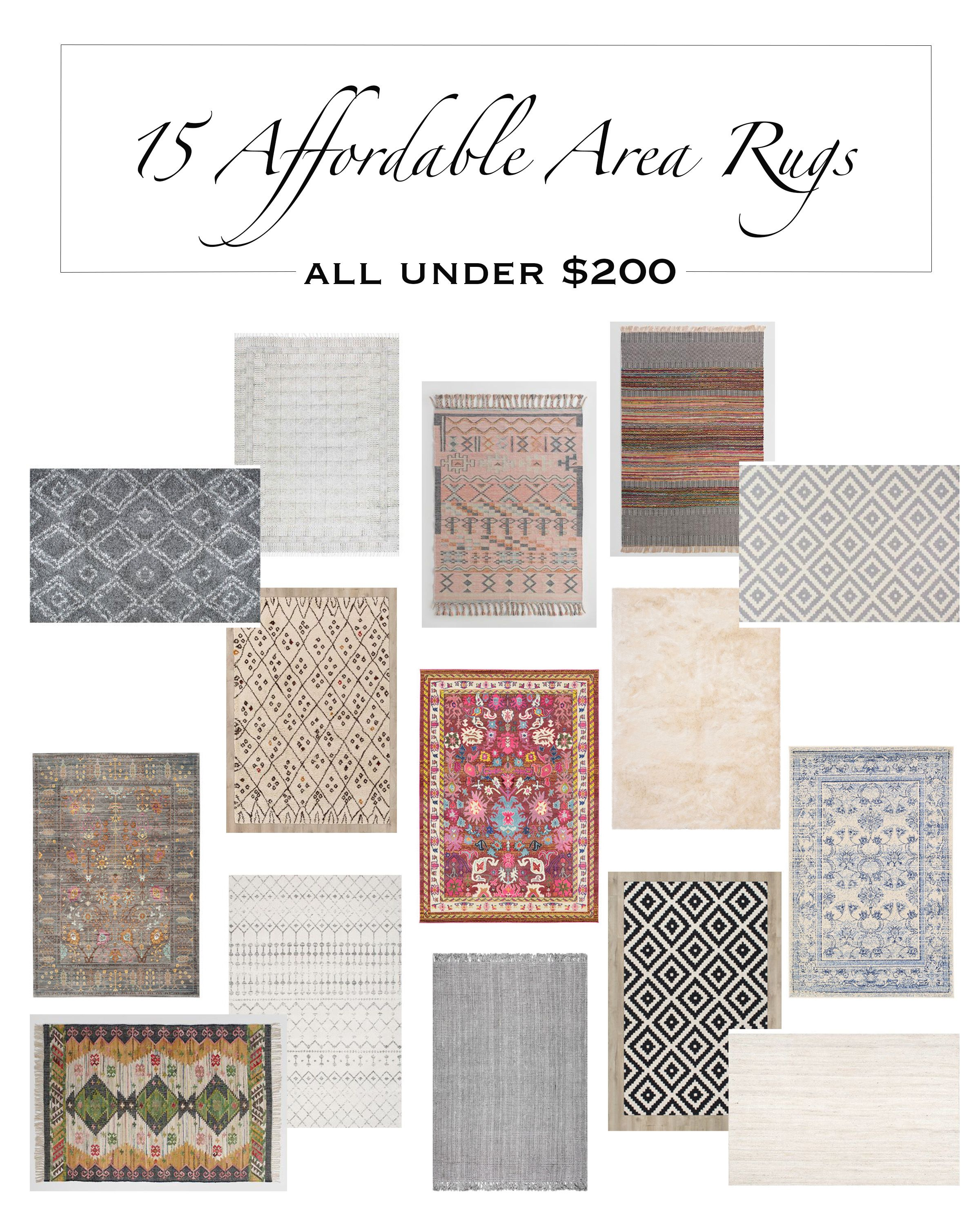 My Top 15 Affordable Area Rugs Under 200 Living Room
