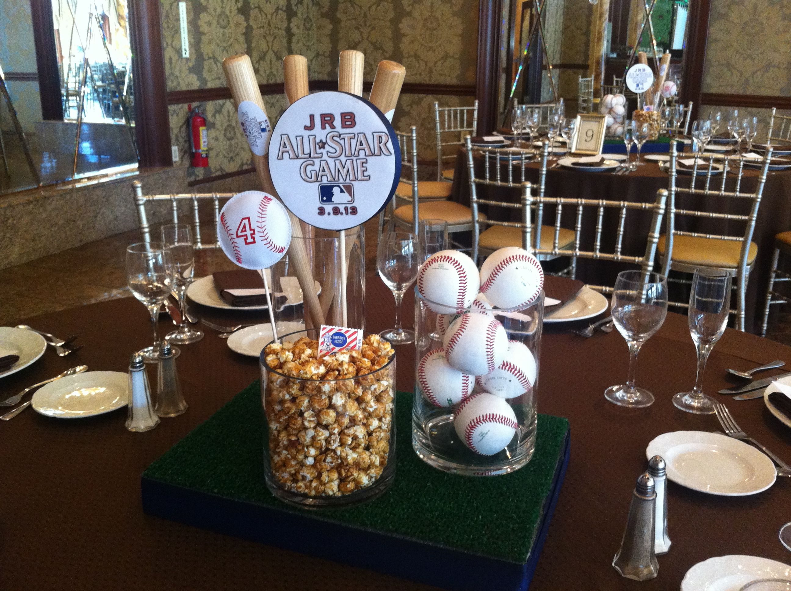 Quot all star game baseball centerpieces mbg events