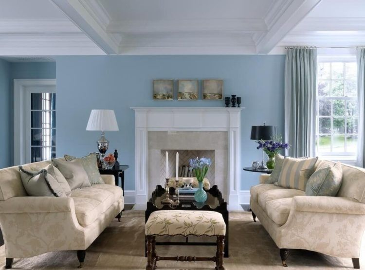 20 Gorgeous Country Style Living Room Ideas Blue Walls Living Room Blue Living Room Decor Living Room Color Schemes