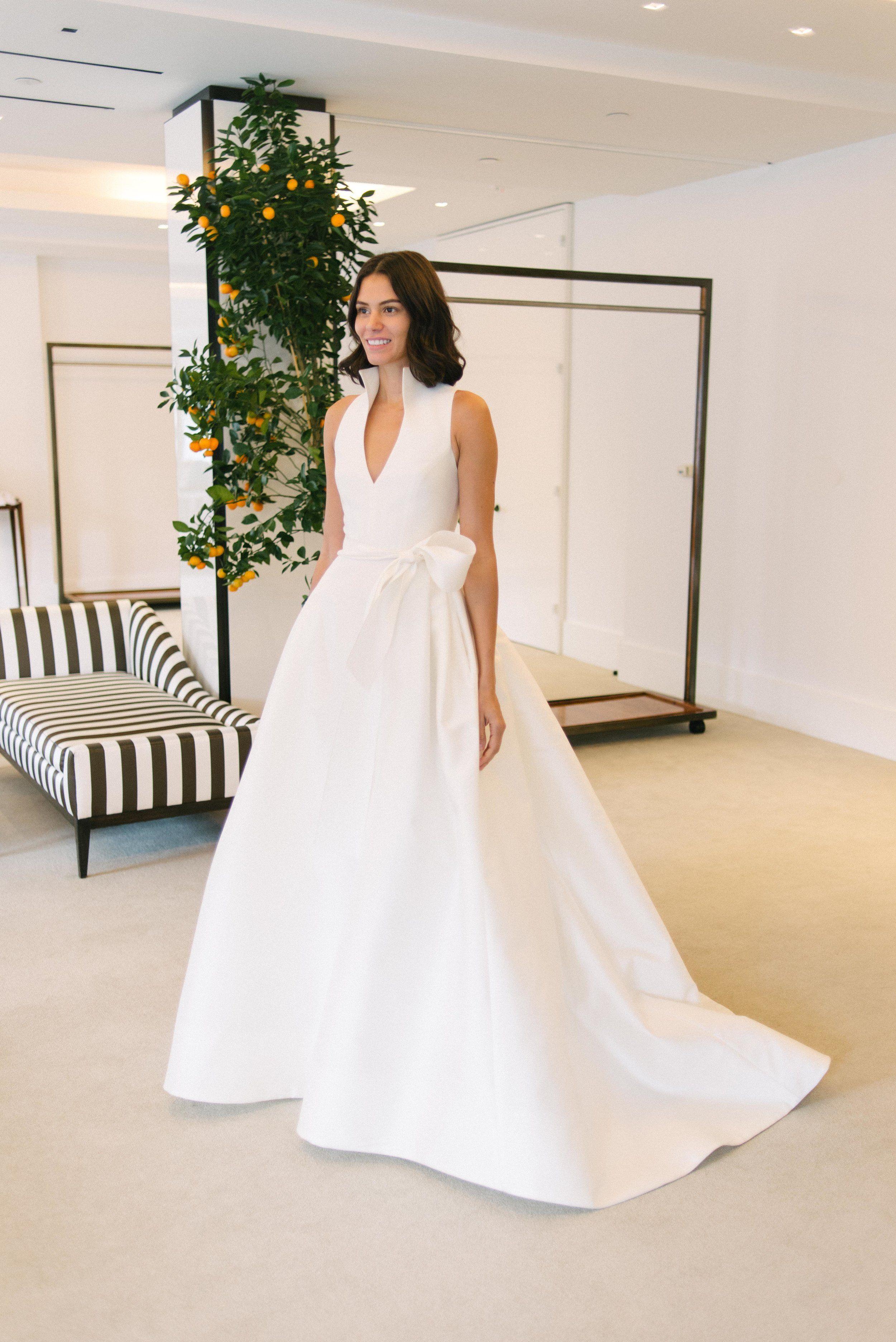 Carolina Herrera Spring 2020 Collection Preview Lydia Little White Dress Bridal Shop White Bridal Dresses Beautiful Bridal Dresses Designer Wedding Dresses