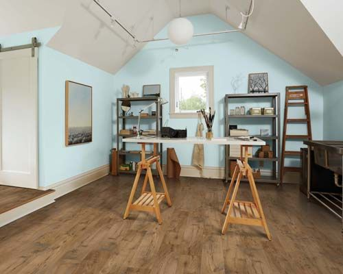 Pergo Max Premier Amber Chestnut Looks Stunning In This Art Room