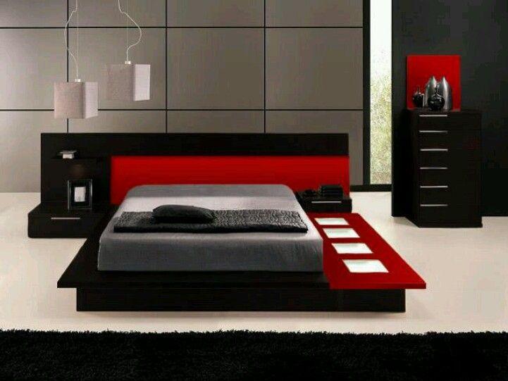 Bedroom black  red Future Home ) Pinterest Bedroom black