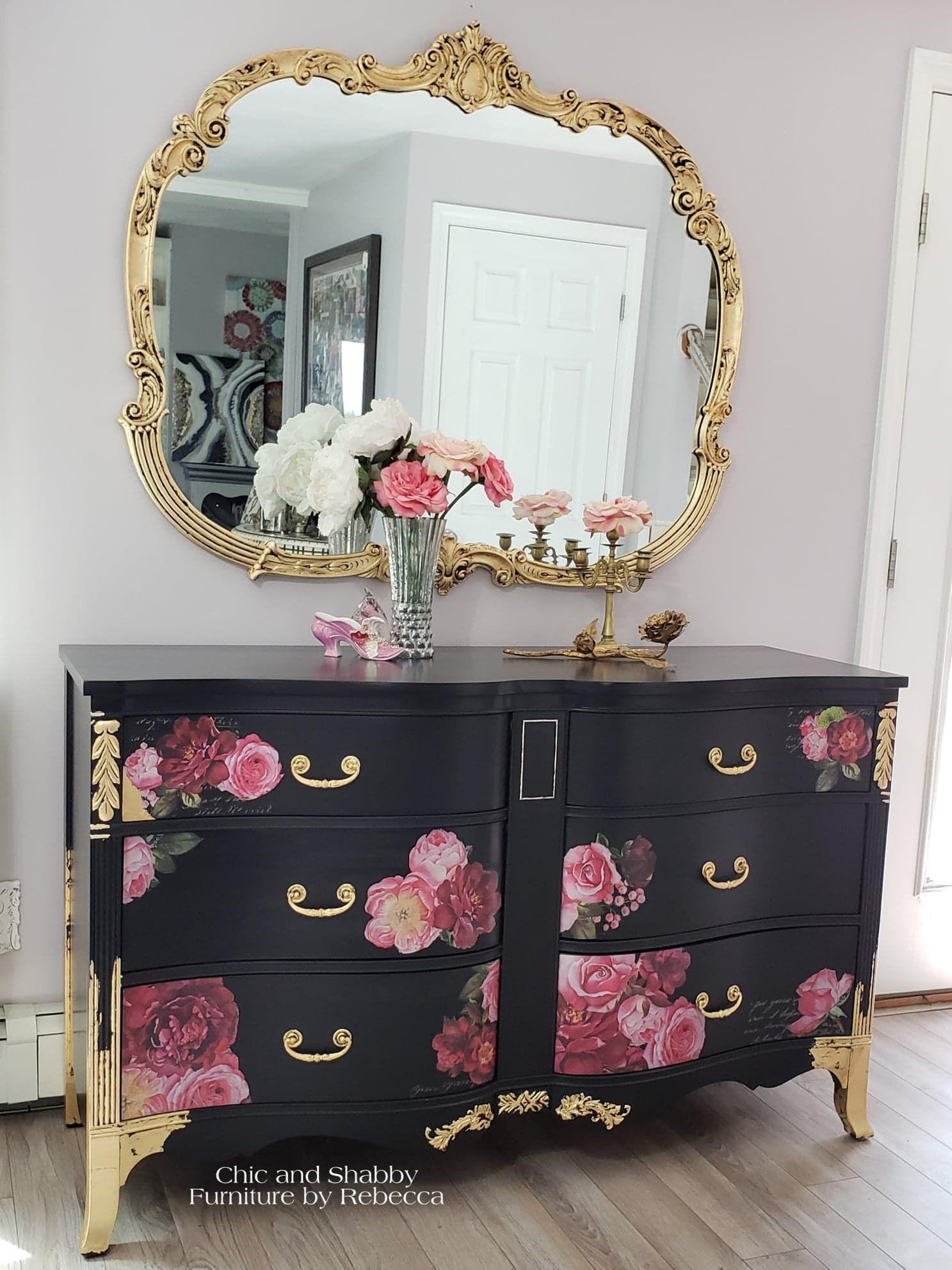 Romantic Vintage Dresser Makeover Shabby Möbel Bemalte