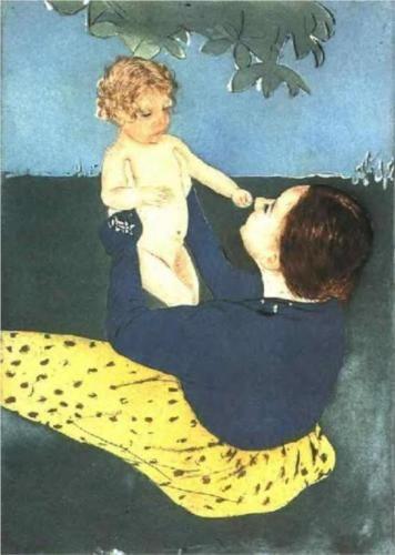 Le Marronnier - Mary Cassatt Technique: pastel Galerie: Philadelphia Museum of Art, Philadelphie, PA, États-Unis