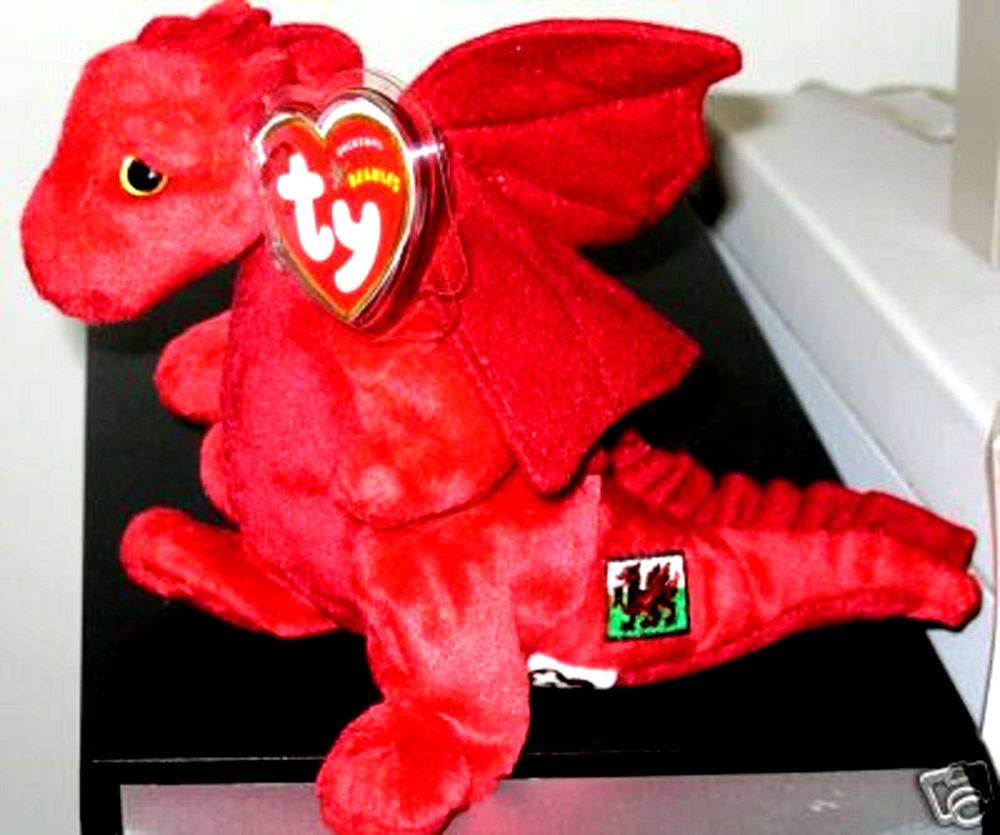 Ty Beanie Baby ~ Y DDRAIG GOCH the Dragon - UK EXCLUSIVE - MINT with MINT  TAGS  TYBeanieBaby 5b6a298e1e09
