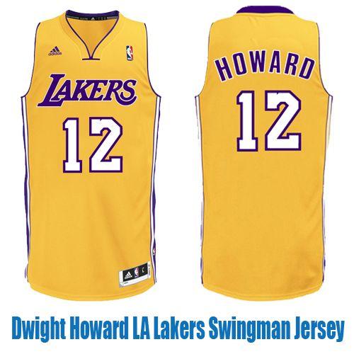 Dwight Howard La Lakers Swingman Home Jersey Number 12 Nba Los Angeles Jersey Los Angeles Lakers