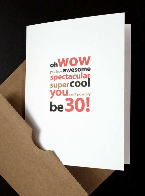 Happy 30th Birthday Card For Him Her Friend Husband Wife Son
