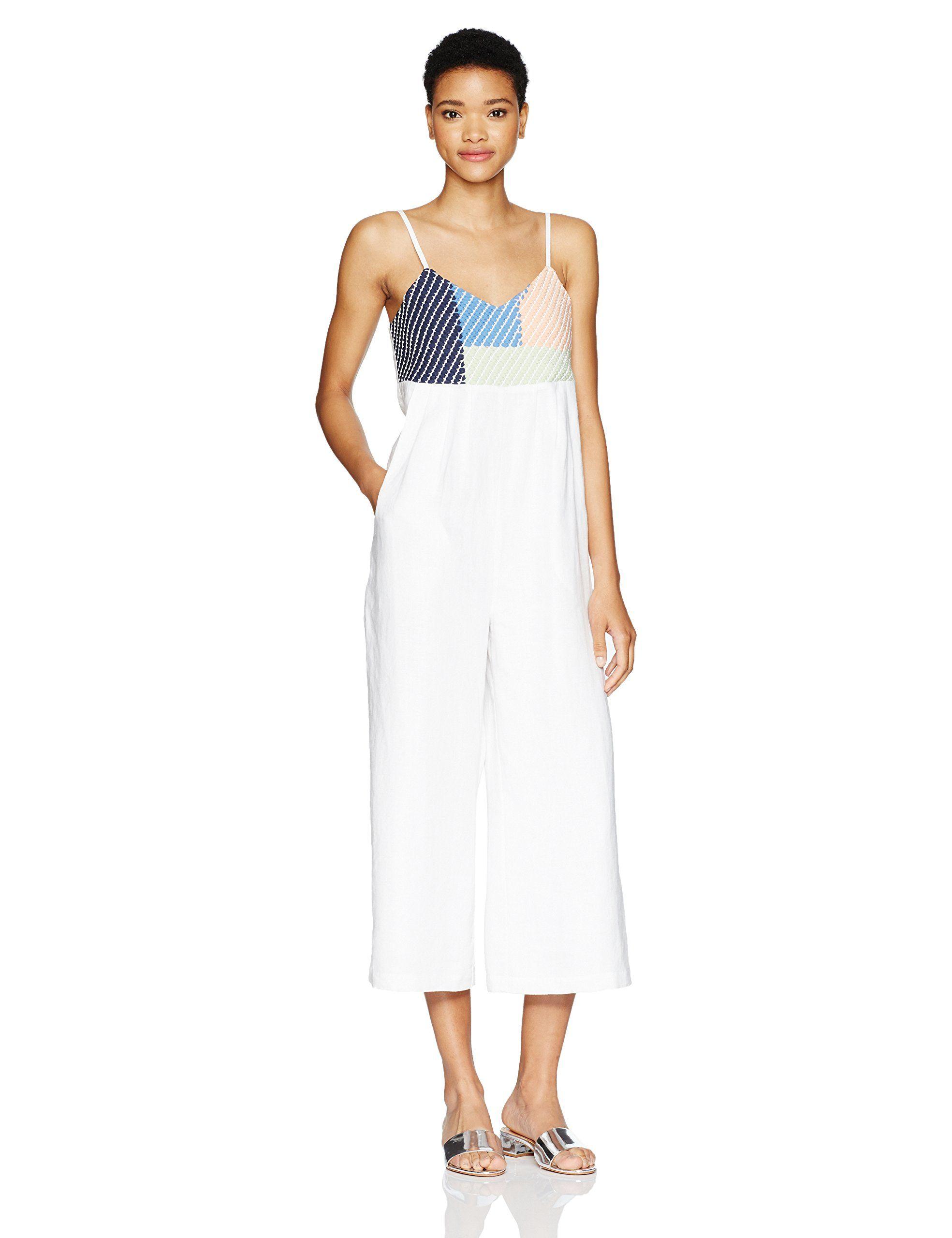 Mara hoffman womenus weave easy jumpsuit white apparel pinterest
