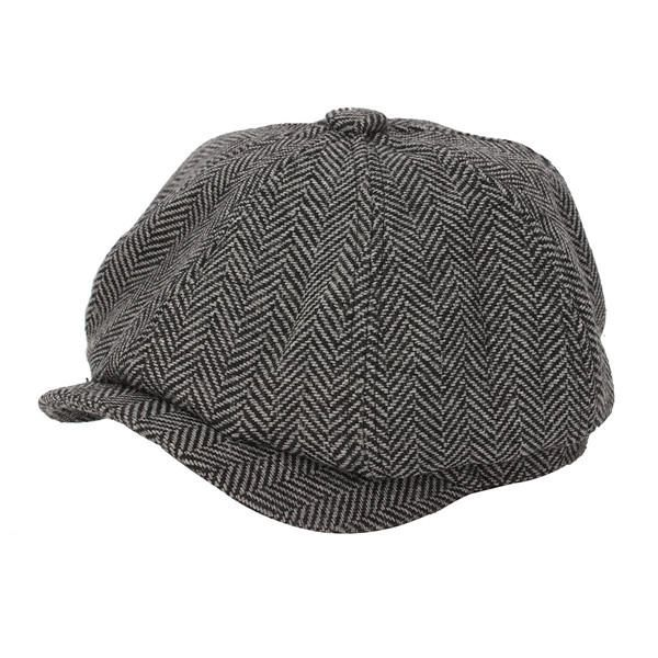 f73c92f66380e Men Visor Woolen Blending Newsboy Beret Cap Outdoor Casual Winter Cabbie Hat  - Banggood Mobile