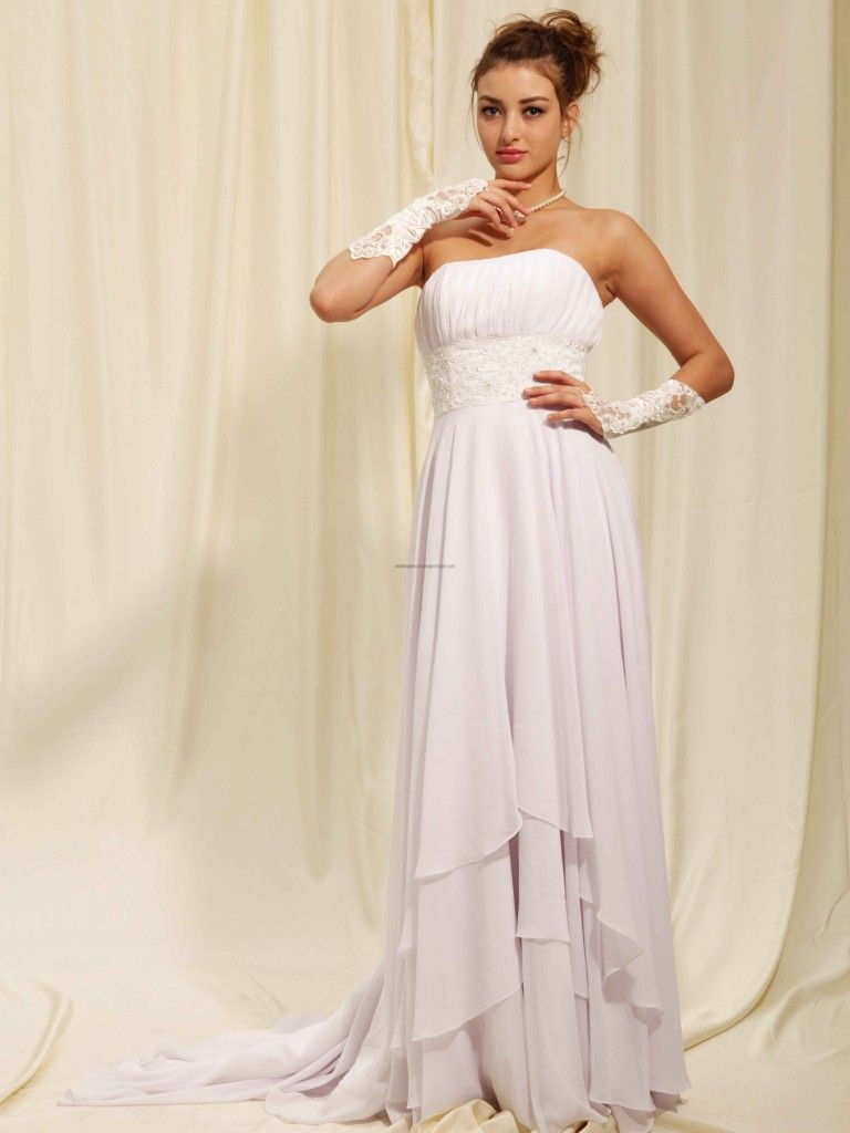 Chiffon wedding dresses  Jc penney chiffon wedding dress  Wedding Dresses  Pinterest